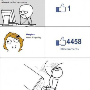 When a female posts on Facebook