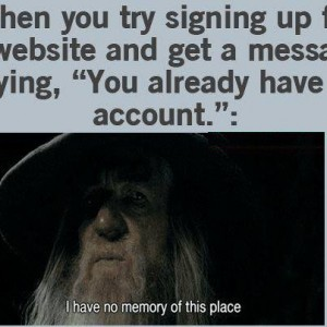 You already have an account