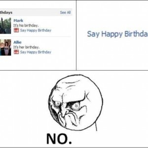 Birthday reminders in Facebook