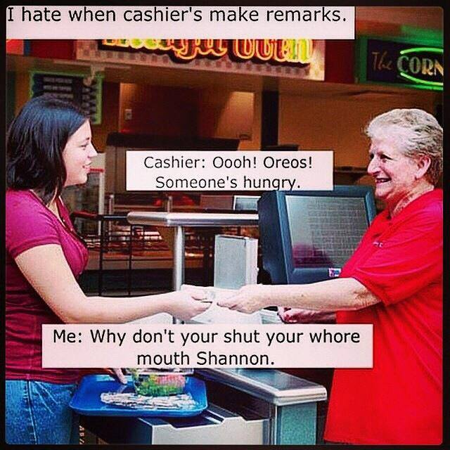 Cashier Remarks cashier remarks funny pictures, quotes, memes, funny images