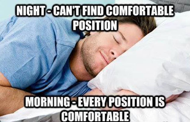 comfortable position to sleep funny pictures quotes memes funny images funny jokes funny. Black Bedroom Furniture Sets. Home Design Ideas