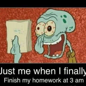 Finishing Homework