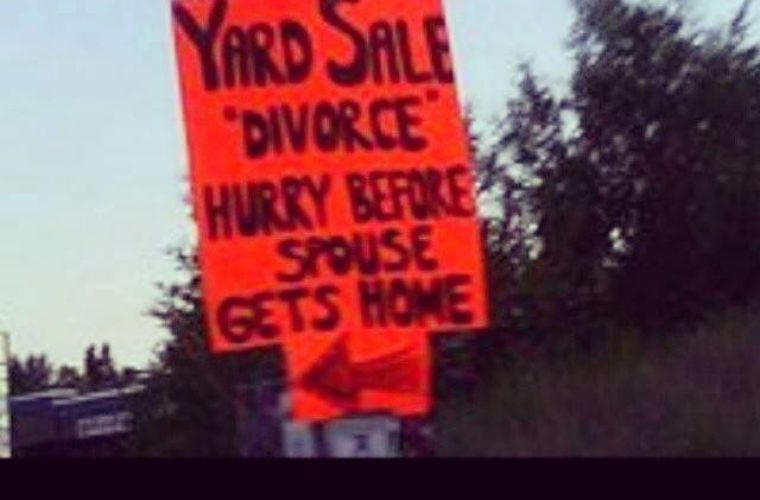 Funny Yard Sale