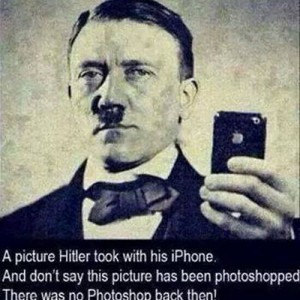 Hitler's selfie with iphone