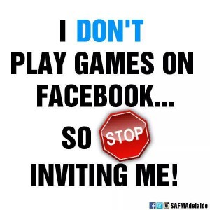 I play on field not on Facebook