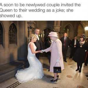 Queen appeared for the wedding