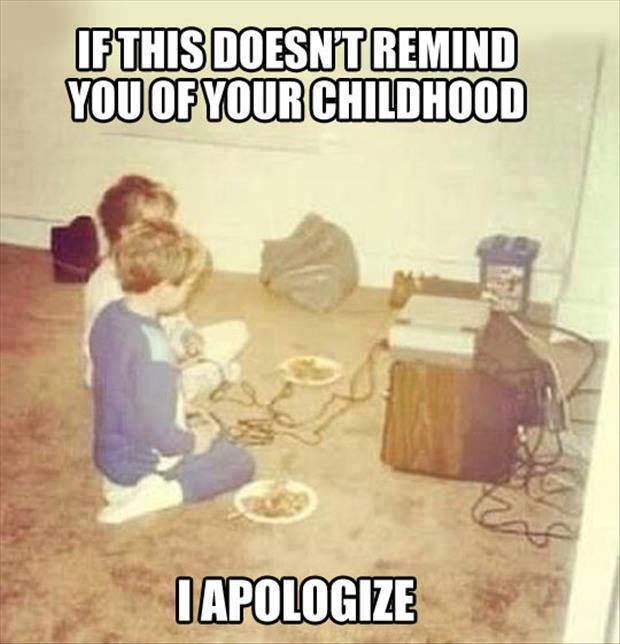 Remembering TV In Childhood | Funny Pictures, Quotes, Memes, Funny Images, Funny  Jokes, Funny Photos