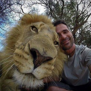 Selfie with Lion