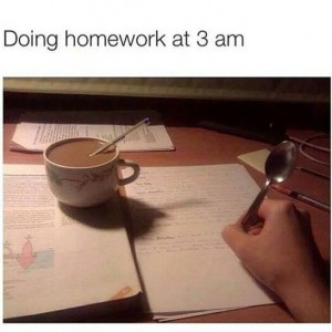 Studying at late nights