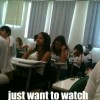 Watching the class learn