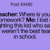 Where is your homework?