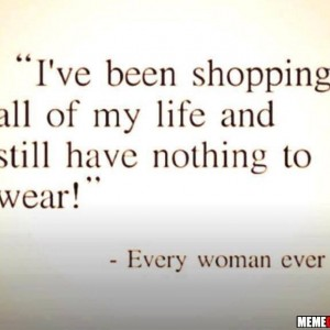 Women's quote about shopping