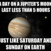A day on Jupiter's moon