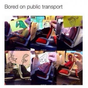 Bored on Public Transport