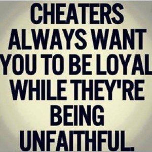 Cheaters always..