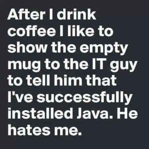 Empty Mug for the IT guy