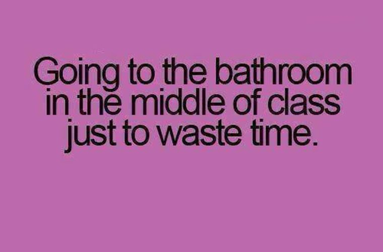 Going to bathroom during class
