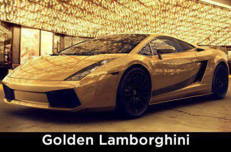 Golden Lamborghini Funny Pictures Quotes Memes Funny Images