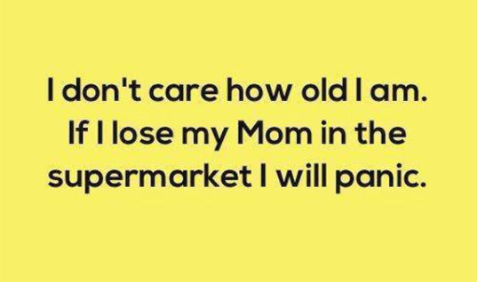 Losing Mom at supermarket