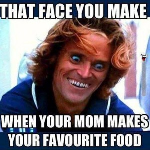 Mom making your favorite food