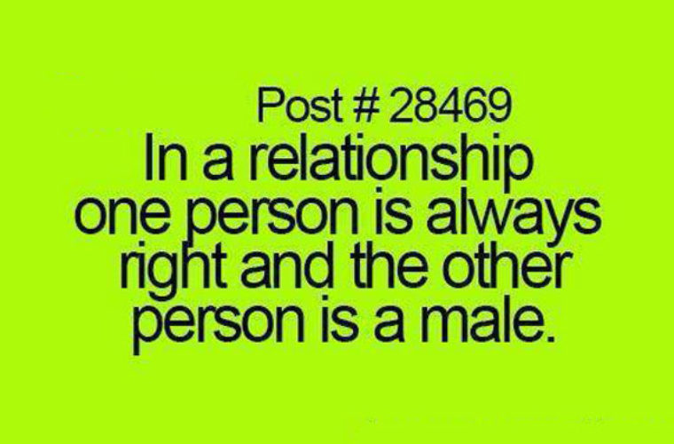 One person is always right