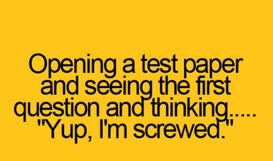 Opening a test paper