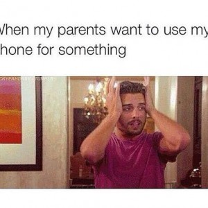 Parents want My Phone