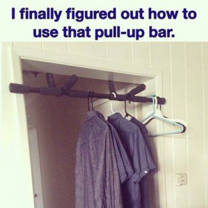 Pull-Up bar for Lazy Guys