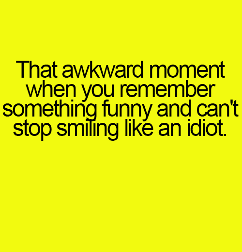 Remembering something funny