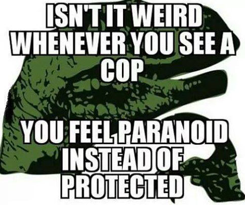 Seeing a cop