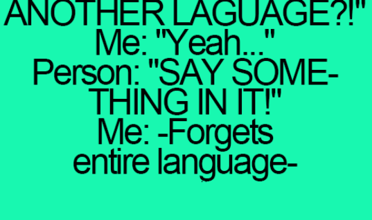 Speaking different language