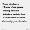 Texting in class