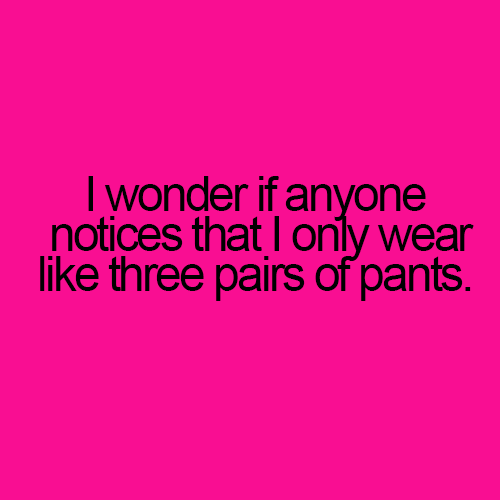 Three pair of pants