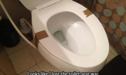 Toilet Seat War with wife