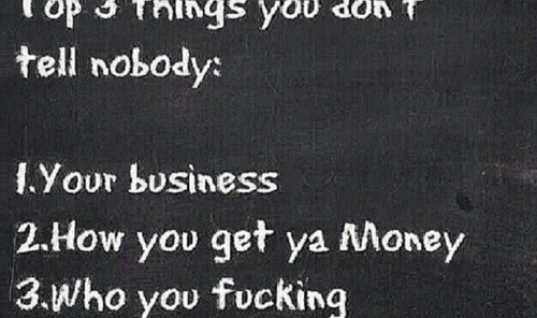 Top 3 things you don't tell