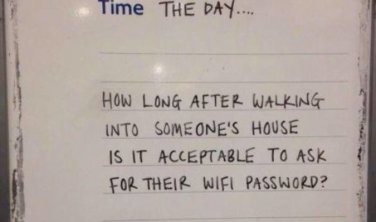 What is your WiFi Password