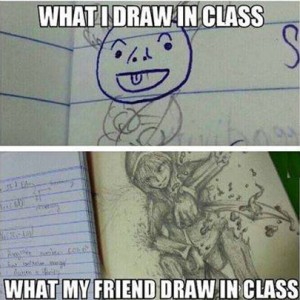 What people draw in class