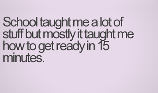 What school taught me