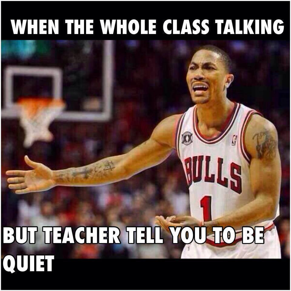 When teacher tells you alone