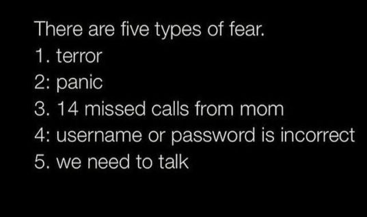 5 types of fear