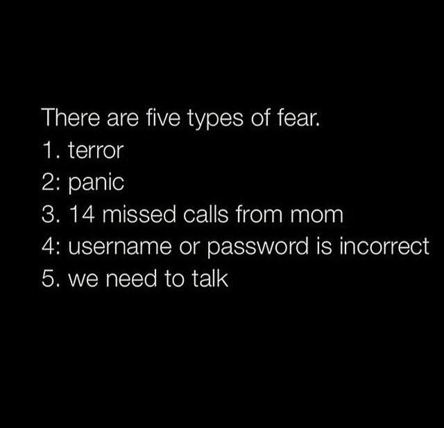 5 types of fear funny pictures quotes memes funny images funny