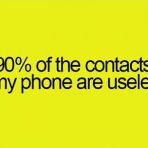 90 percent of the contacts