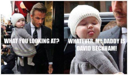 Beckam's Little Girl