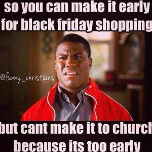 Black Friday Vs Church