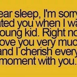 Dear Sleep