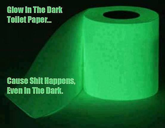 Glowing Toilet Papers