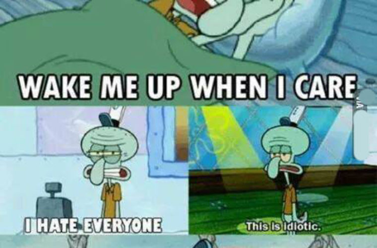 I became Squidward
