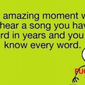 Know Words of a song!