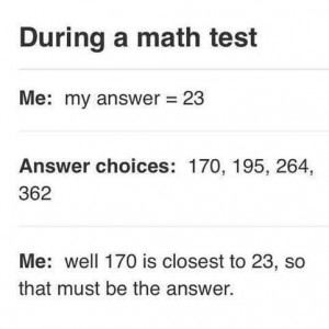 Me at Math Test