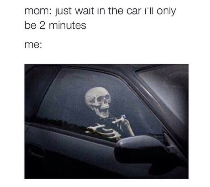 Waiting for mom in car